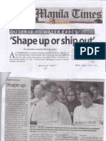 Manila Times, Mar. 21, 2019, Duterte to water execs Shape up or ship out.pdf