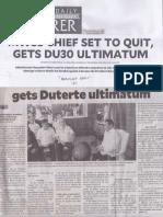 Philippine Daily Inquirer, Mar. 21, 2019, MWSS chief set to quit, geta DU30 ultimatum.pdf