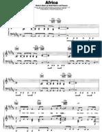 Toto - Africa Music Sheet