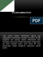 Etika System Administator