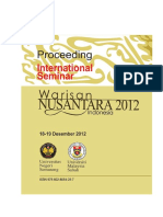 2. Prosiding Dan Piagam Semnr Inter Warisan Nusantara 2012