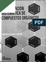 Identificación Sistematica de Compuestos Orgánicos LIMUSA SHRINER
