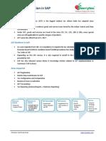 Case Study Cherrytec Goods Services Tax(GST) in SAP