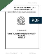 Cim Automation Lab Manual 10me78
