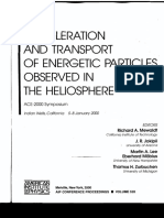 Acceleration and Transport of Energetic Particles Observed Inthe Heliosphere