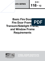 SDI 118-2012 Basic Fire Door, Fire Door Frame, TransomSidelight