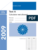 2009 Maths Paper A