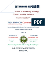 Effectiveness of Marketing Strategy