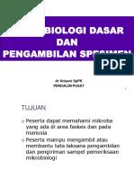 Mikrobiologi Dasar & Pengambilan Spesimen Anie 2018