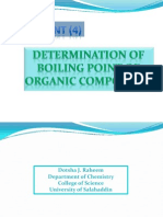 Determination of boiling point of organic compounds