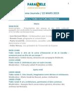 Programme P5 du 22 mars
