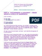 O SERIES, Intermediate - Part A - Discernment vs Judgment - Brain Waves & Levels of Awareness
