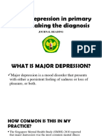 Major Depression in Primary Care JOURNAL READING