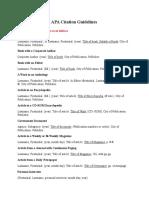 APA Citation Guidelines