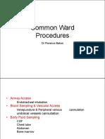 common ward procedures