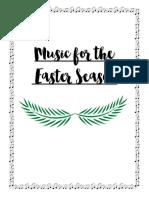 Music for Lent Easter Ontario Lesson Plans
