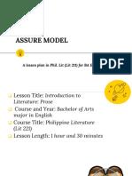 Lesson Plan Assure Model