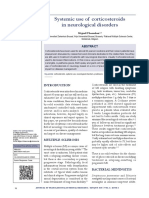 [22244018 - Journal of Translational Internal Medicine] Systemic Use of Corticosteroids in Neurological Disorders