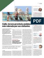 Cádiz, tercera provincia andaluza más valorada por sus visitantes
