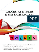Values, Attitudes & Job Satisfaction