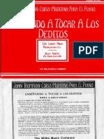 digitacion para piano -  metodo para niños