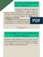 Théorie de la Contingence Structurelle (1)