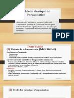 Théorie Classique de L_organisation