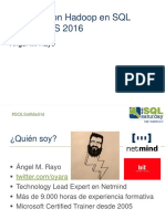 52503 Big Data Con Hadoop y SSIS 2016 - Angel Rayo