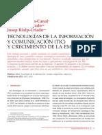 TIC y Crecimiento de La Empresa
