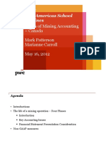 Pwc Basics of Mining Accounting Canada
