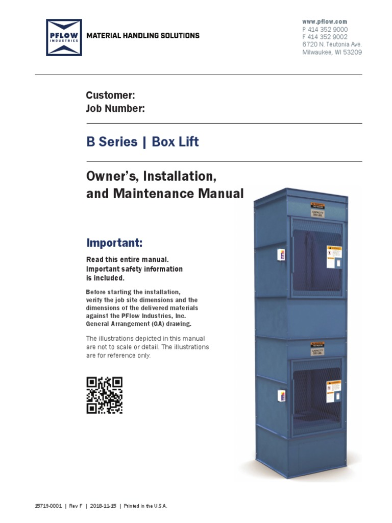 B-Series-Owners-Manual pdf | Elevator | Business