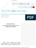 MASINA SINCRONA - Elemente Constructive Ale Masinii Sincrone Trifazate
