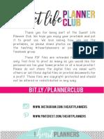 Calendário Para Planner