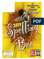 2019 Regional Spelling Bee program