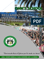 0.0. Reglamento Interno 2018-2019 Saint Johns School