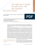 Delivering the right care to people with low back pain in low- and middle-income countries