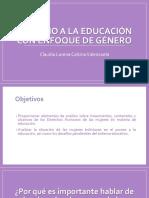Derecho a La Educación Con Enfoque de Género