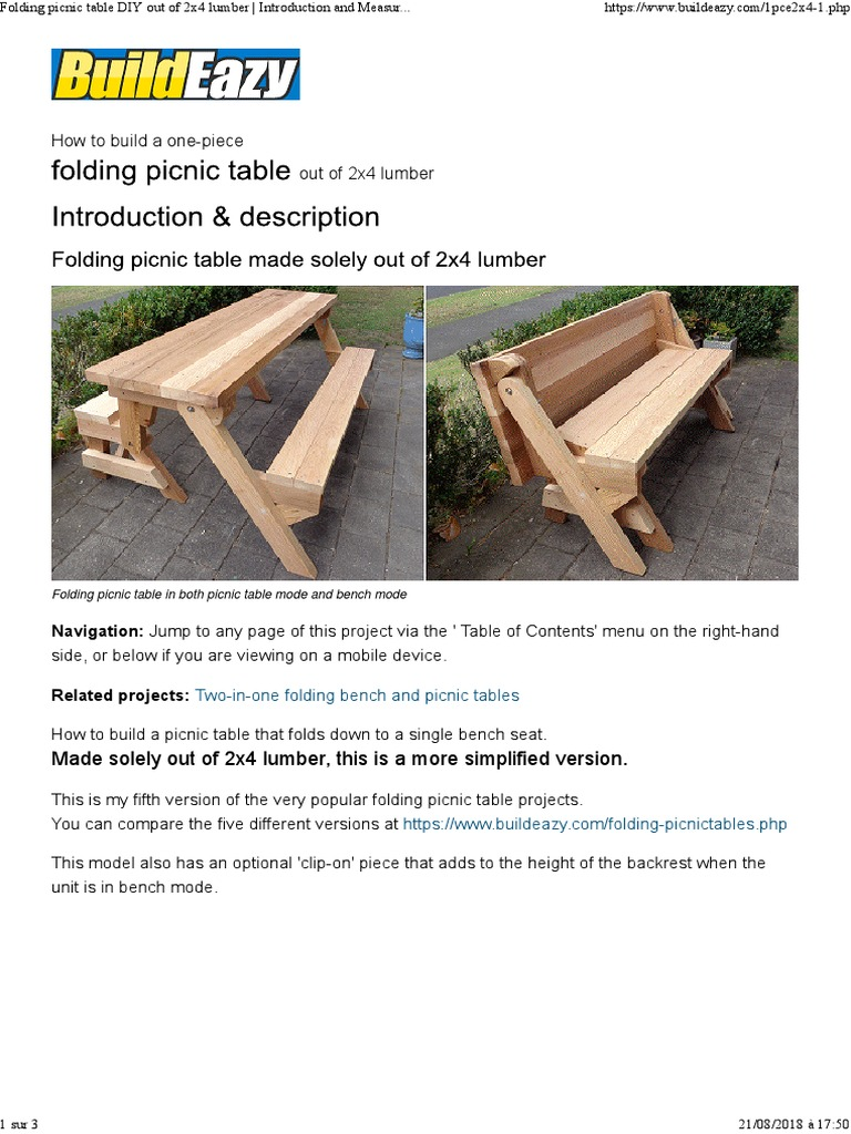 Tremendous 00 Folding Picnic Table Diy Out Of 2X4 Lumber Lumber Nut Andrewgaddart Wooden Chair Designs For Living Room Andrewgaddartcom