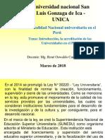 Clase Realidad Nacional Universitaria II Parcial
