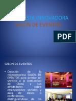 Propuesta Innovadora Salon de Eventos Juan Amell