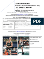 dakota wrestling summer clinic sessions flier 2019