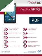 Viewsonic Tablet IR7Q Ficha Técnica