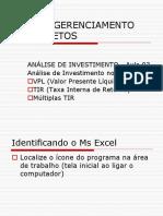 Selecao e Avaliacao de Projeto UNIFOR - Aula 03 Excel