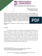 Artigo - PASCALE MOLINIER E A PSICODINÂMICA DO TRABALHO FEMININO