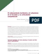 OT y Urbanismo en Ecuador y su articulación competencial