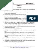 Maths Key Notes Ch1 Integers