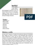 Elías (Oratorio) - Wikipedia, La Enciclopedia Libre