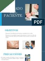 afeitado de paciente