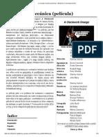 La Naranja Mecánica (Película) - Wikipedia, La Enciclopedia Libre