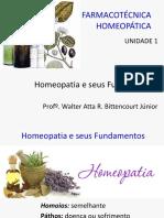 1 Homeopatia e Seus Fundamentos